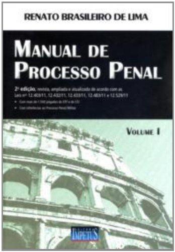 Manual De Processo Penal - Volume 1