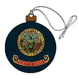GRAPHICS & MORE Rustic Idaho State Flag Distressed USA Wood Christmas Tree Holiday Ornament