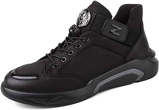 [細い/綿任意]カジュアルシューズメンズシューズ冬の新しいアウトドアスポーツシューズトレンドシューズメンズ低学生の靴を助けるために (色 : 黒, サイズ さいず : 40)