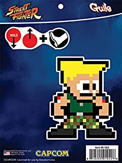 Street Fighter 8-Bit Guile Sticker Decals for MacBook, Laptop, Vehicle Licensed by Capcom