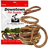 Downtown Pet Supply All Natural Bully Stick Rings Packs - Healthy Grain Free Grass Fed Beef Dog Dental Chew Treat (12 Pack)