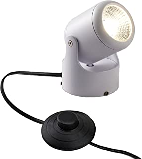 Kiven LED Accent Uplight w/Foot Switch, Handheld Sized Portable Spot Light, White