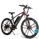 Bici Electrica, Bicicleta De Montaña Eléctrica De 26' Bicicletas 48V 350W 10Ah Extraíble De Iones De Litio Eléctrica En Adultos Frenos De Disco , 21 Velocidades