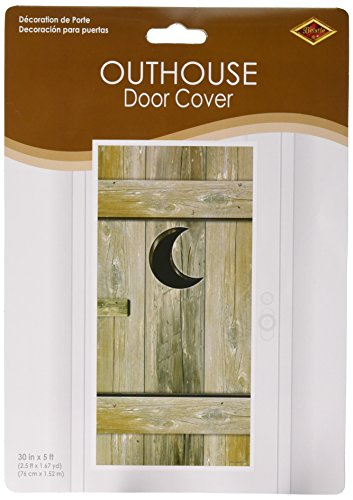 Outhouse Door Cover Party Accessory (1 count) (1/Pkg)