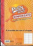 BLOCCO FOGLI A BUCHI RICAMBIO MAXI RINFORZATI RIGHE A 1a/2a ELEMENTARE 100 GR....