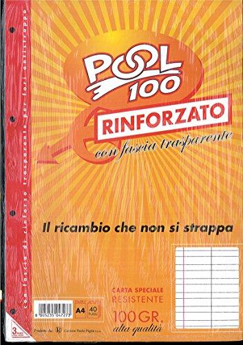 BLOCCO FOGLI A BUCHI RICAMBIO MAXI RINFORZATI RIGHE A 1a/2a ELEMENTARE 100 GR.