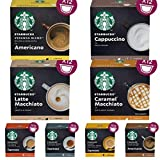 Nescafe Dolce Gusto Starbucks - 36 cápsulas/vainas Pick N Mix 3 cajas (8 mezclas)