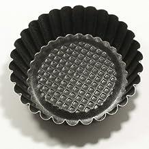 set 6 pezzi Formina crostatina tonda con fondo rialzato mini stampo Diametro 10cm H.2,5cm pasticceria art.37