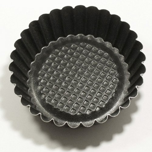 Dolcezze Lot de 6 pièces forme ronde avec fond surélevé Mini Moule Diamètre 10 cm h.2,5 cm pâtisserie Art.37