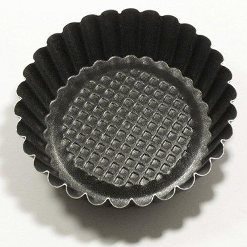Set 6 piezas Formina crostatina redonda con fondo alzado mini molde Diámetro 10 cm H.2,5Cm pastelería art.37