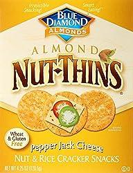 Blue Diamond Almonds Nut Thins Cracker Crisps, Pepper Jack,4.25 Ounce