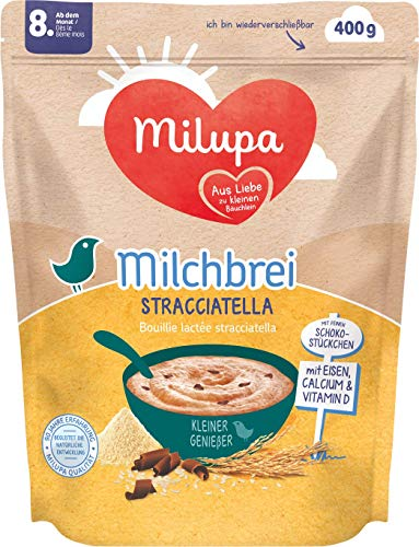 Milupa Milchbrei Stracciatella Kleine Genießer ab dem 8. Monat, 4er Pack (4 x 400 g)