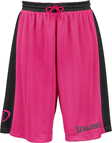 Spalding Bekleidung Teamsport Essential Reversible Shorts Herren, schwarz/pink, S