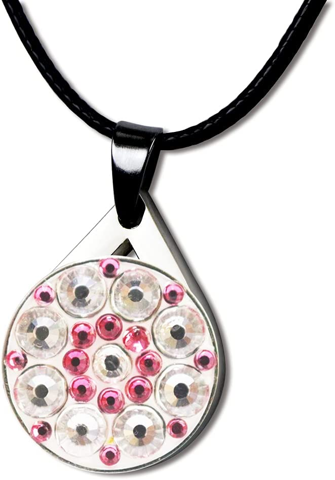 Ranking TOP16 Myartte Crystal Golf Balll Markers Lady for with Necklace Now on sale G