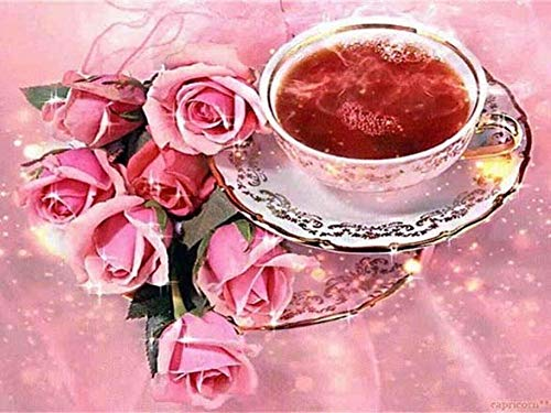 Verf op nummers voor volwassenen roze roos bloemen landschap digitale olie canvas schilderij kits voor volwassenen…