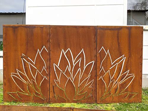 Zen Man 3 st. patina tuin inkijkbescherming van metaal roest tuinhek tuindecoratie patina zichtwering wand 1mm L225 * H125cm 032014-3,4,5