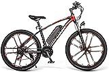 Bicicletas Eléctricas, 26' bicicleta eléctrica SM26 E-bici for adultos, 350W 48V bicicleta eléctrica 8AH de iones de litio de 3 modos de trabajo, con Profesional 21 Velocidad Shifter, Apto for Hombres