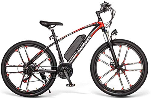 RDJM Ebikes 26' Electric Bike SM26 Ebike for Adults, 350W Electric Bicycle 48V 8AH Lithium-Ion Battery 3 Working Modes, with Professional 21 Speed Shifter, Suitable for Men Women