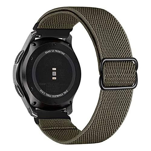MroTech Compatible con Huawei Watch GT 2 46 mm/GT 2e/GT2 Pro Correa Nailon 22mm Pulseras Repuesto para Samsung Galaxy Watch 3 45mm/Gear S3 Frontier/Galaxy 46mm Banda Nylon Woven Sport Band-Ver