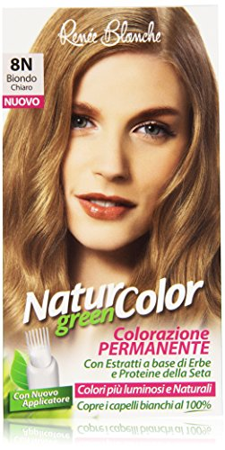 teinture pour les cheveux coloration permanent naturel natur color green8 n blond clair