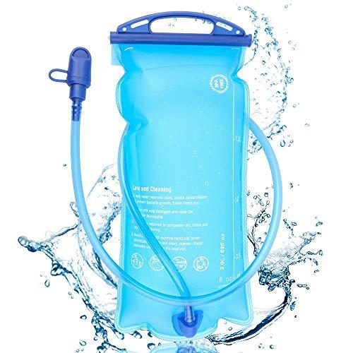 Nakeey Trinkblase 2L BPA-frei, Wasserblase mit Schlauch Wasserblase, Hydration Bladder, Sport Wasser Blasen Ideal für Outdoor-Radfahren
