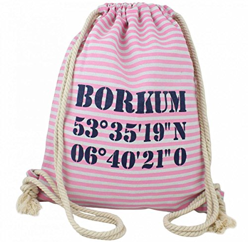 Sonia Originelli City Rucksack Borkum Tasche Bag Backpack Maritim Farbe Rosa-Marine