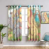Elliot Dorothy My Little Pony Applejack - Juego de cortinas térmicas con aislamiento térmico, 42 x 45 cm
