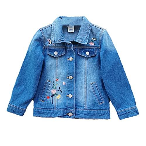 Primavera Niñas Chaquetas Elástico Denim Ropa Exterior Chica Cardigan Jeans Abrigos Niños Ropa