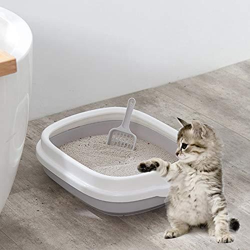 WJH B22210 Caja de Arena para Mascotas Desmontable semicerrada con Arena para Gatos (Color : Small Gray)