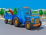 Blauer Traktor und ein Magnet