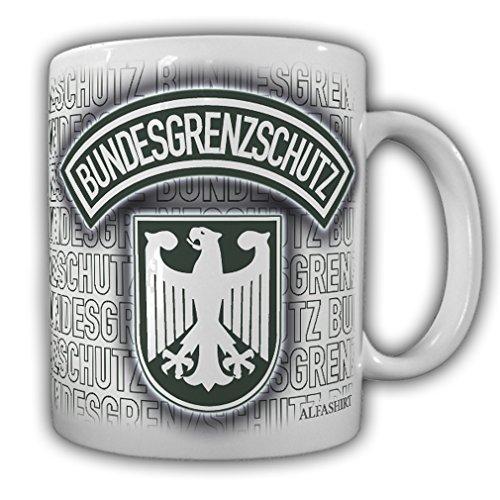 Tasse Bundesgrenzschutz BGS ALT_Polizei Wappen Abzeichen Adler Genscher Bogen Uniform Grenzschützer Beamter Logo #23685