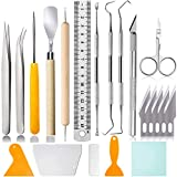 21 Pcs Craft Tools Set, Vinyl Weeding Tools, Craft Basic Set, Craft Vinyl Tools Kit for Silhouettes/Cameos/Lettering/Cutting/Splicing