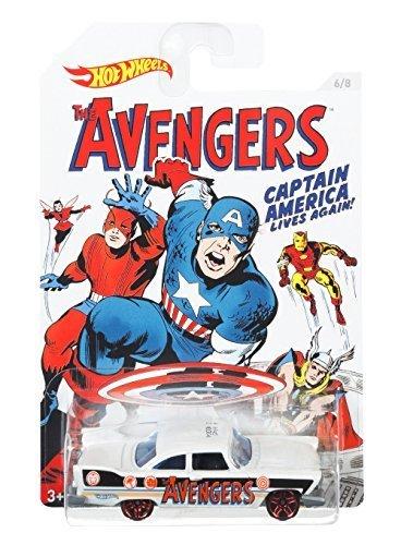 Hot Wheels, Captain America 75 Years Exclusive Bundle Set Of 8 Die-Cast Cars by Mattel