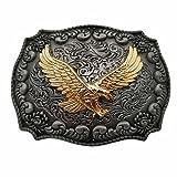 YONE Hebilla de cinturón Golden Eagle Western Belt Buckle