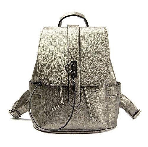Cordon de serrage Argenté en simili cuir Casual Sac à dos Sac à dos école bookbags Sac à dos pour filles et étudiants