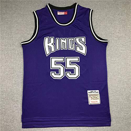LYY Retro Jersey Uomo, Re Williams # 55 Maglie NBA Basketball Classic Camicia Respirabile Freddo di Tessuto Sportivo T-Shirt,XL(185~190cm)