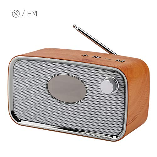 Bluetooth Speaker,All-in-1 Wireless Protable Travel Speaker Drivers with FM Radio Speaker Alarm Clock- HiFi V4.2 Rich Bass Built-in Mic Support TF Card, AUX, USB Rechargeable for Office Desk Home Bed