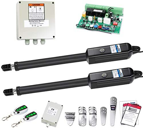 TOPENS PW802 Automatic Gate Opener Kit Heavy Duty Dual Gate Operator for Dual Swing Gates Up product image