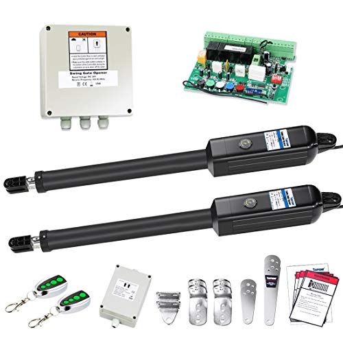 TOPENS PW802 Automatic Gate Opener Kit Heavy Duty Dual Gate Operator for Dual...