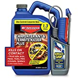 BioAdvanced 700335A Carpenter Ant and Termite Killer Plus Pesticide for Outdoors, 1.3-Gallon, Ready-to-Use Battery Powered Sprayer