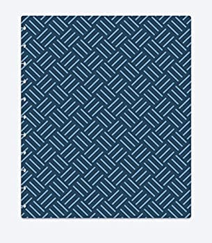 TUL Custom Note-Taking System Discbound Notebook Covers Letter Size 8.5  x 11  Pack of 2 Covers  Blue/Gray Weave