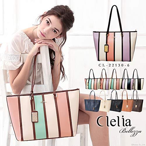 Clelia(クレリア)『ストライプ柄トートバッグ』