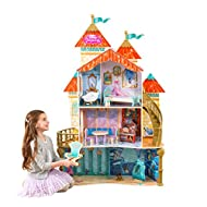 KidKraft 65939 Disney Princess Ariel Land to Sea Castle Wooden Dolls House with furniture and access...