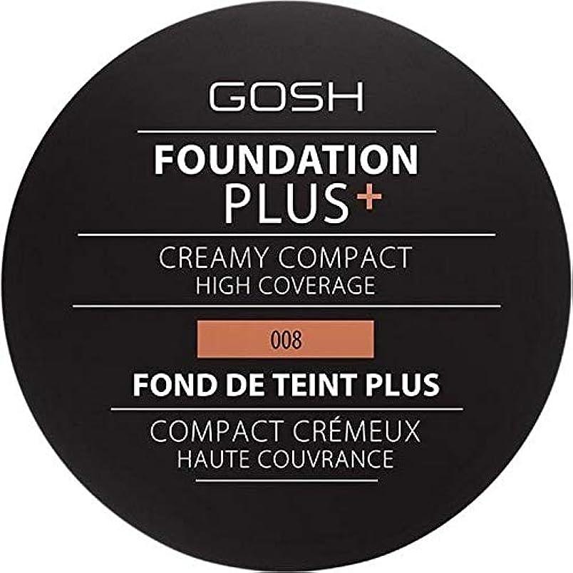 うねる表向きぼかす[GOSH ] おやっ基盤プラス008 +クリーミーコンパクト黄金 - Gosh Foundation Plus+ Creamy Compact Golden 008 [並行輸入品]