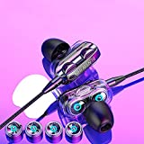 Earbuds Headphones HiFi Stereo in-Ear Wired Earphones with Microphone, 3.5mm Super Bass Headset Noise Isolating, Wired Ear Buds Compatible with Android Phone Tablet Laptop Smartphones Devices (Black)