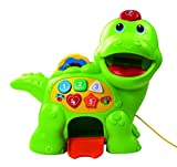 VTech Baby Feed Me Dino | Musical Baby Toy with Numbers, Counting Music & Shapes | Interactive Light Up Toy Suitable from 1, 2, 3 Year Olds Boys & Girls