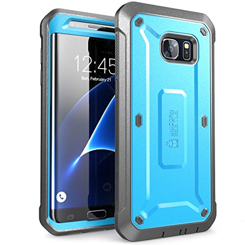 Cover Samsung S7 Edge, SUPCASE Custodia 360 Gradi con Protezione per Display Integrata [Serie Unicorn Beetle Pro] Rugged Case per Samsung Galaxy S7 Edge 2016, Blu