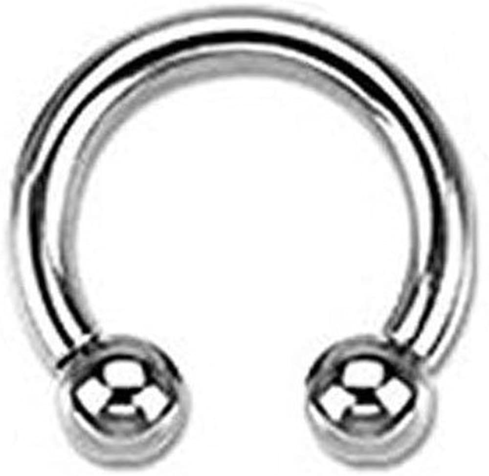 Inspiration Dezigns 16G, 14G or 12G Horseshoe Circular Barbell 316L Surgical Steel Internally Threaded - Sold Individually