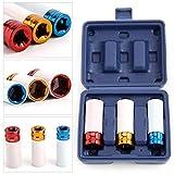 Wohlstand Juego de 3 vasos de impacto,Llave de impacto para llantas de aleación,vasos de impacto,Para atornillador de impacto,Juego de vasos de impacto,17-19 -21 mm