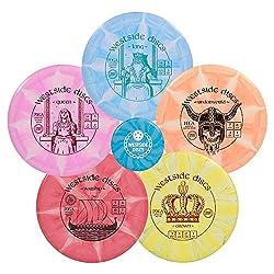 commercial Westside Discs Origio Burst Disc 5 Disc Golf Set | Frisbee Golf Starter Kit | Adjustment… disc golf sets